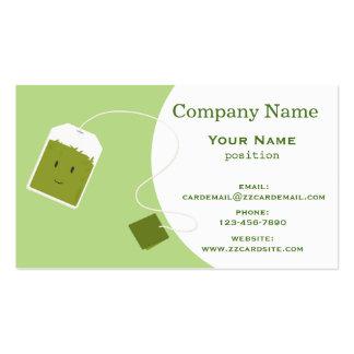 Grüner Teebeutel Visitenkarten