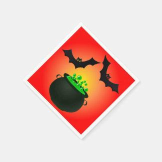 Grüner Trank und Schläger-Rot Papierserviette
