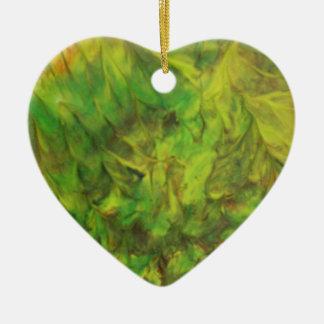 grüner Traum Keramik Herz-Ornament