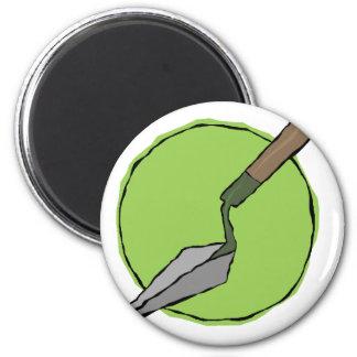 Grüner Trowel - der Toolkit des Archäologen Runder Magnet 5,1 Cm
