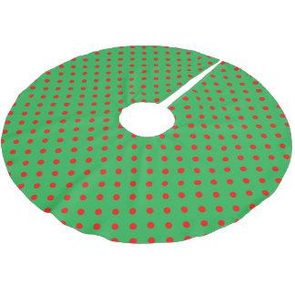 Grüner Tupfen Polyester Weihnachtsbaumdecke