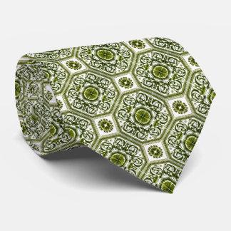 Grüner u. weißer geometrischer vertikaler Entwurf Personalisierte Krawatten