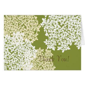 Grüner u. weißer Spitze danken der Königin-Anne Karte