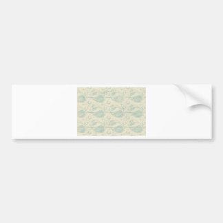 Grüner und beige Paisley-Druck Autoaufkleber