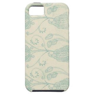 Grüner und beige Paisley-Druck iPhone 5 Etui
