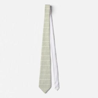 Grüner und beige Paisley-Druck Personalisierte Krawatte