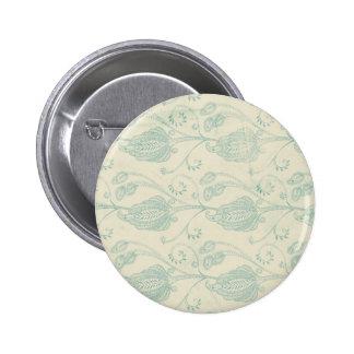 Grüner und beige Paisley-Druck Runder Button 5,7 Cm