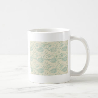 Grüner und beige Paisley-Druck Tasse