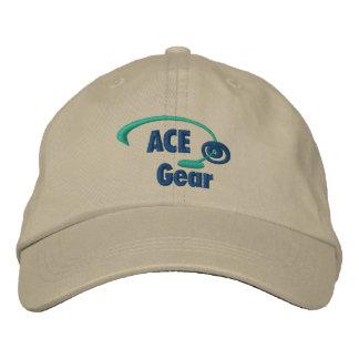 Grüner und blauer As-Gang gestickter Hut Baseballmütze