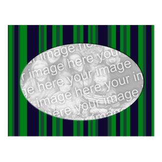 grüner und blauer gestreifter Fotorahmen Postkarte