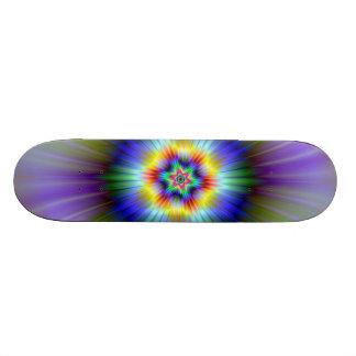 Grüner und blauer Stern-Skateboard Skateboarddeck