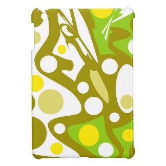 Grüner und gelber abstrakter Dekor iPad Mini Hülle
