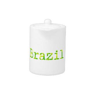 Grüner und gelber Schriftart Brasiliens