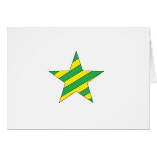 grüner und gelber Stern Karte