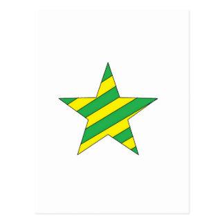 grüner und gelber Stern Postkarte