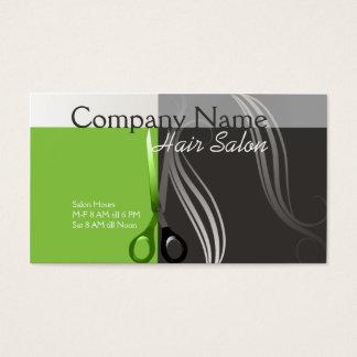 Grüner und grauer Entwurf der Visitenkarten