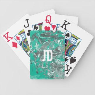 Grüner und grauer Marmor Bicycle Spielkarten