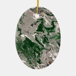 Grüner und grauer Marmor Keramik Ornament