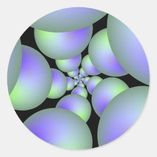 Grüner und lila Bereich-Spiralen-Aufkleber Runder Aufkleber