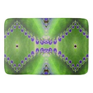 Grüner und lila Entwurf Badematte