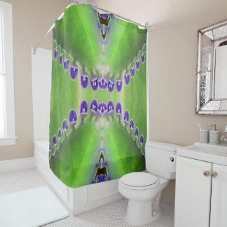 Grüner und lila Entwurf Duschvorhang