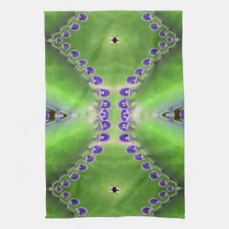 Grüner und lila Entwurf Handtuch
