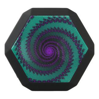 Grüner und lila Fraktal-Strudel Bluetooth Schwarze Bluetooth Lautsprecher