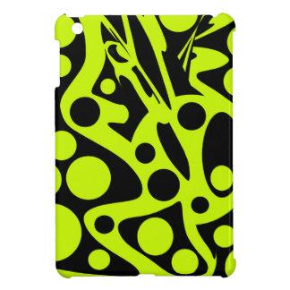 Grüner und schwarzer abstrakter Dekor iPad Mini Cover