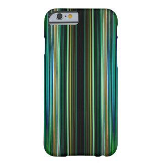 Grüner und schwarzer gestreiftes Muster iphone 6 Barely There iPhone 6 Hülle