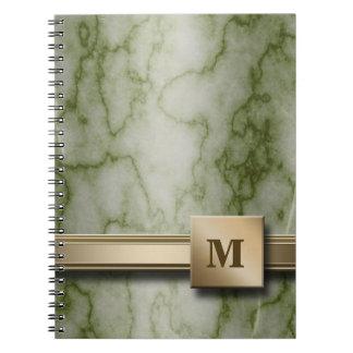 Grüner und weißer Marmor Notizblock
