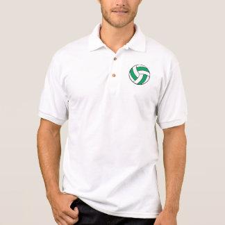 grüner und weißer Volleyball Polo Shirt