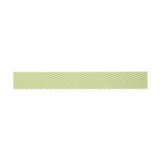 Grüner und weißer Zickzack Stripes Zickzack Muster Einladungsbanderole