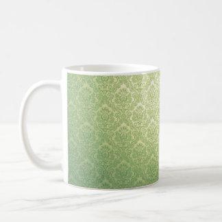 Grüner viktorianischer Damast Kaffeetasse