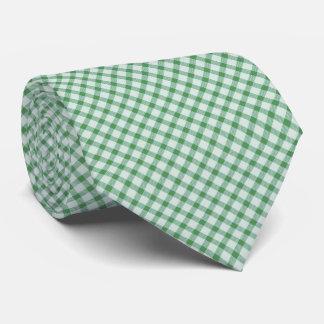 Grüner Vintager Gingham Krawatte