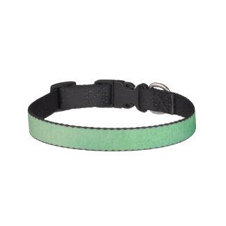 Grüner Wasserfarbe-Marmor Haustierhalsband