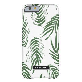 Grüner Watercolor verlässt Muster-Gewohnheit Barely There iPhone 6 Hülle
