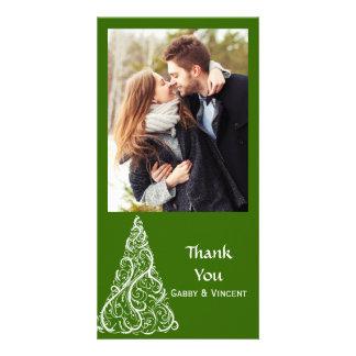 Grüner Weihnachtsbaum danken Ihnen Karte