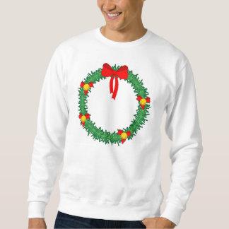 grüner WeihnachtsKranz mit rotem Bogen Sweatshirt