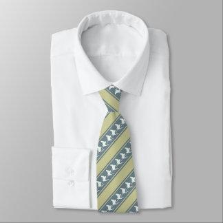Grüner weißer grauer Reiher Personalisierte Krawatten