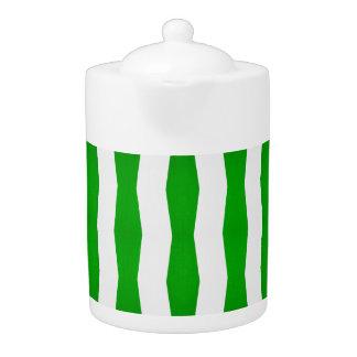 grüner/weißer Streifendruck-Teetopf