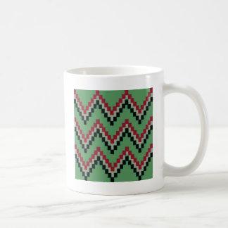 Grüner Western-Block Zickzack Kaffeetasse