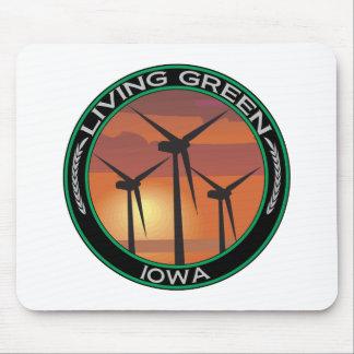 Grüner Wind Iowa Mauspad