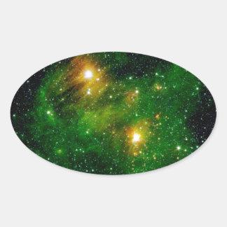 Grüner Wolken-Nebelfleck des Gas-GL490 - die Ovaler Aufkleber
