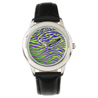 Grüner Zebra Armbanduhr