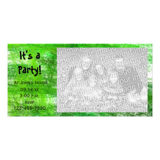 Grüner Zeichenstift kritzelt Party Karte