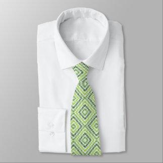 Grüner Zickzack Personalisierte Krawatten