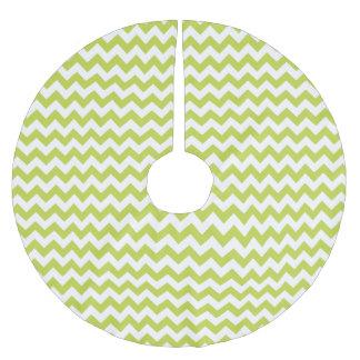 Grüner Zickzack Stripes Zickzack Muster Polyester Weihnachtsbaumdecke