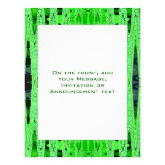 grünes abstraktes 21,6 x 27,9 cm flyer