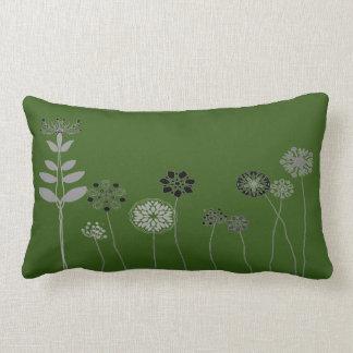 Grünes abstraktes Blumengarten Throwkissen Lendenkissen