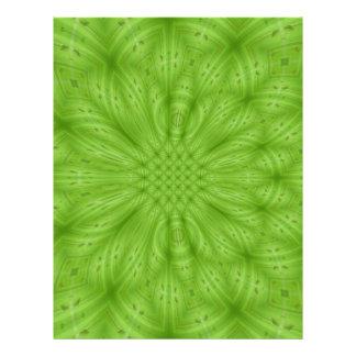 Grünes abstraktes hölzernes Muster Flyerdesign